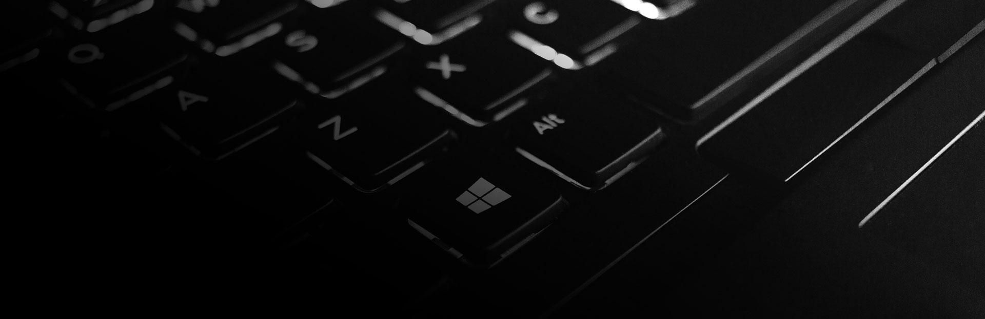 Keyboard dark background